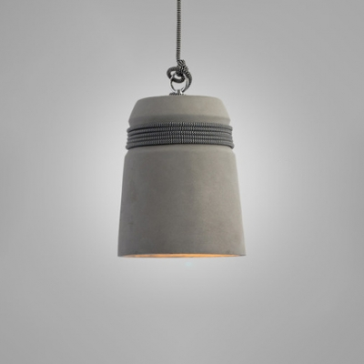 Industrial Simple Down LED Suspension Light Concrete Hanging Light for Dining Room