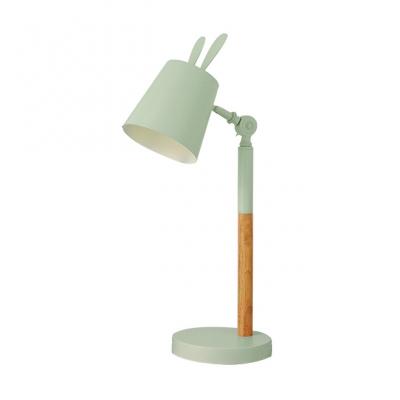 Lovely Tapered Reading Light Macaron Nordic Style Living Room Rotatable Metal 1 Head Desk Lamp