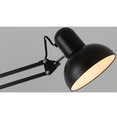 Semicircle Floor Light Modernism Adjustable Metallic Single Light Standing Light in Black