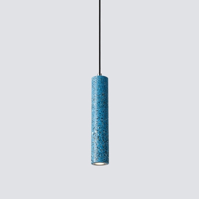 Tube Suspended Lamp Modern Designers Style Concreted Lighting Fixture for Living Room