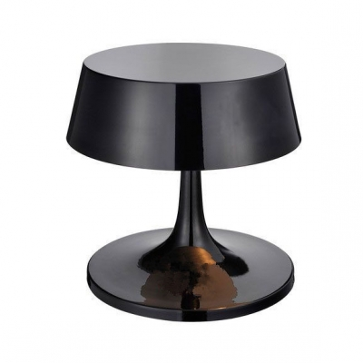 3 Light Round Shade Table Lamp Designers Style Metal Decorative Desk Light in Black