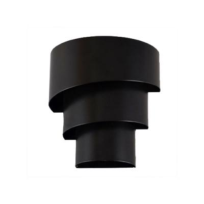 Multi Tiers Wall Lighting Modernism Metal 1 Light Wall Mount Fixture in Black for Corridor