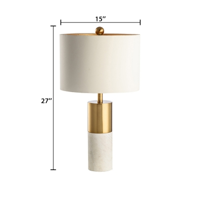 Round Reading Light Contemporary Desk Light with Stony Base for Living Room Bedroom