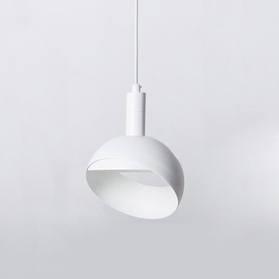 White Dome Ceiling Light Designers Style Rotatable Metallic Suspended Light for Bedroom