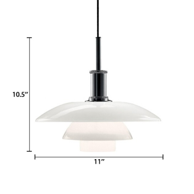 3 Shades Pendant Lamp Modern Fashion White Glass Decorative Pendant Lamp for Living Room