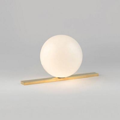 Brass Finish Ball Desk Light Designers Style Frosted Glass 1 Light Table Light for Bedroom