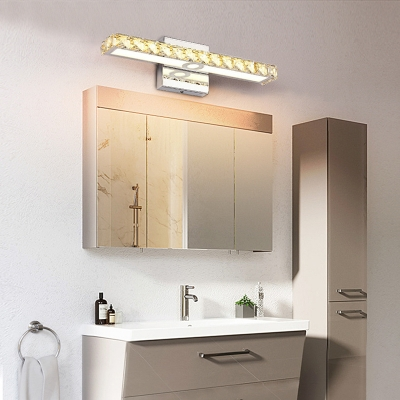Warm/White Linear Cosmetic Lamp Modern Fashion Crystal LED Makeup Mirror Light