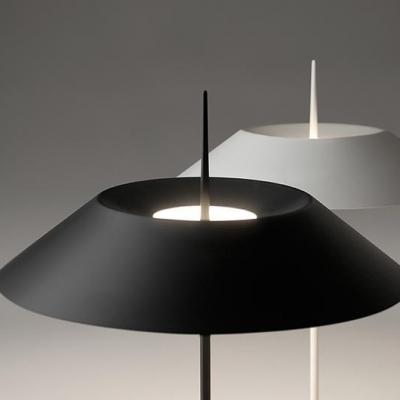 1 Light Coolie Floor Light Contemporary Steel Standing Light in Black for Sitting Room