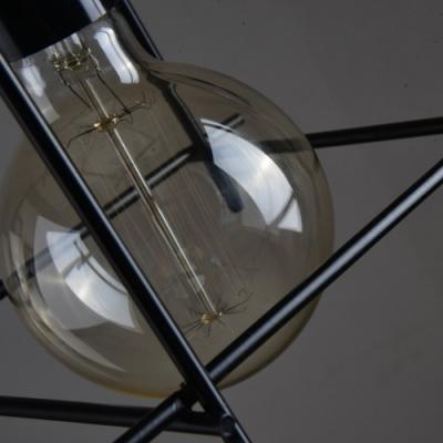 6 1/4'' W Matte Black Intersections 1 Light LED Mini Pendant