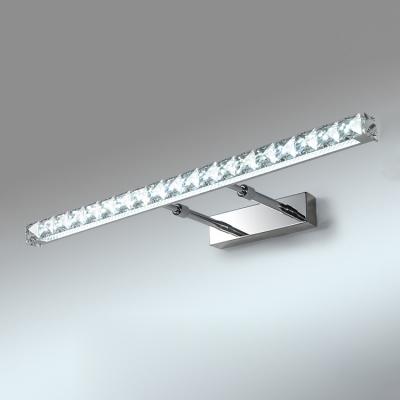 Adjustable Linear LED Vanity Light Modern Design Crystal Makeup Mirror Light in Warm/White