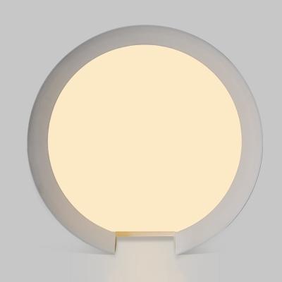 C Shape Flush Mount Lamp Fixture Simplicity Acrylic 1 Head Flush Light Fixtures in White