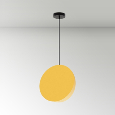 Colorful Simple Disc Suspended Lamp Metal Ceiling Lamp for Children Room Study Room
