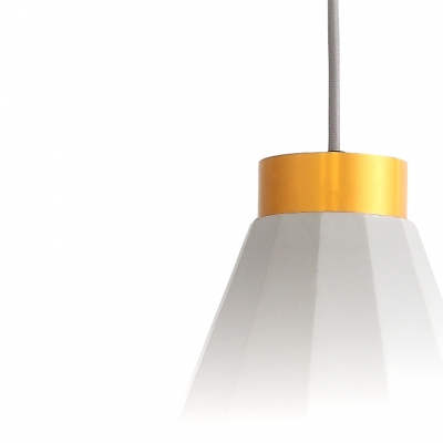 Conical Pendant Lamp Modern Designers Style Cement Suspended Lamp in Concrete Gray