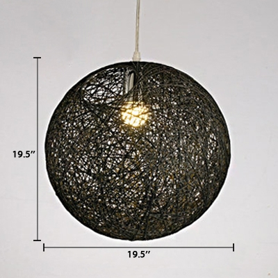 Globe Shade Hanging Light Contemporary Hand Made Accent Pendant Lamp for Living Room