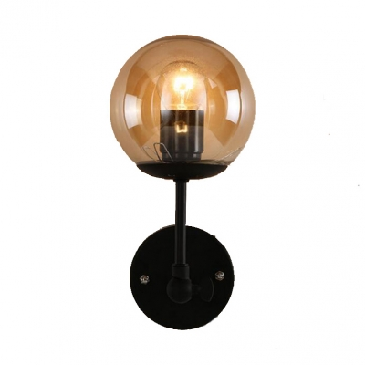 Contemporary Modern Style Wall Light Vintage Industrial Globe Glass Wall Sconce Wall Fixtures Home Garden
