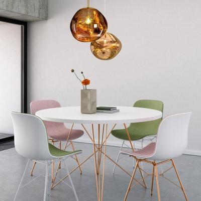 Gold Melt Pendant Lamp Post Modern Glass 1 Light Accent Suspended Lamp