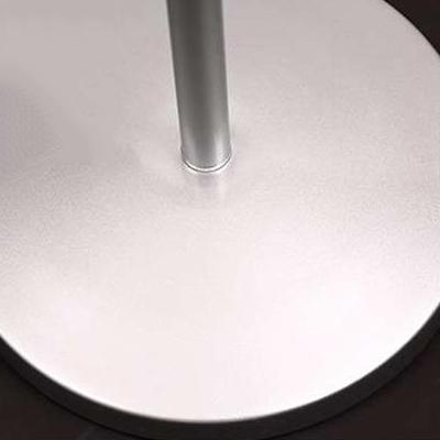 Metallic Swing Arm Floor Light Concise Modern 1 Light Standing Light in White for Bedroom
