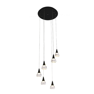 Linear Cluster Pendant Light Simple Concise Metal Multi Suspended Light for Bar Restaurant