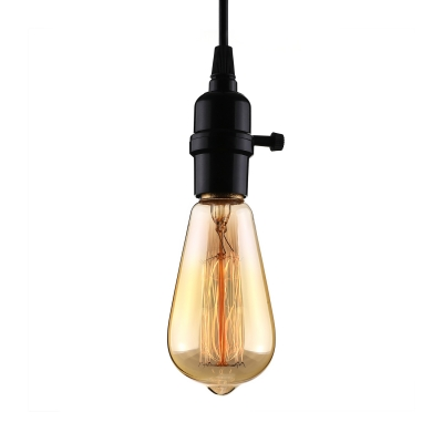 Style Black Bare Bulb Led Mini Pendant Light Beautifulhalo
