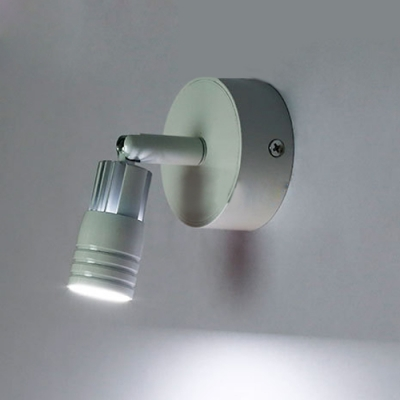 White Tube LED Wall Sconce Modernism Rotatable Metal 1 Light Wall Mount Fixture for Bedside
