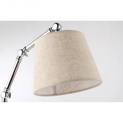 1 Head Coolie Desk Light Modern Design Adjustable Fabric Shade Table Lamp for Study Room