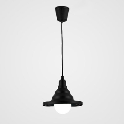 Black/White Conical Lighting Fixture Contemporary Silicone Single Light Pendant Lamp for Foyer