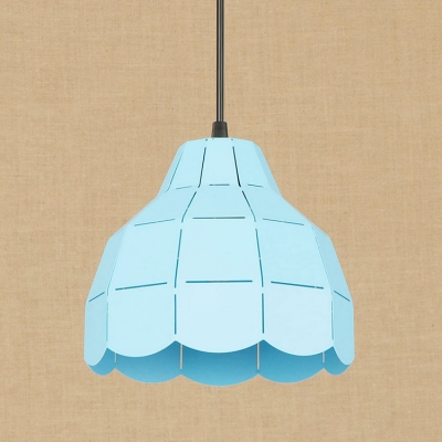 Colorful Modern Dome Drop Light Adjustable Iron Single Head Hanging Lamp for Children Room
