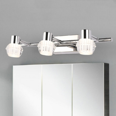 Neutral Armed Vanity Light Simplicity Stainless 2 3 Bulbs Makeup