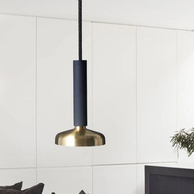 Teardrop Suspended Light Minimalist Metal 1 Light Pendant Light in Brass for Coffee Shop