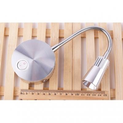 1 Head Gooseneck LED Wall Sconce Modern Design Adjustable Metal Bedside Reading Light