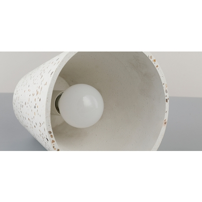 Eco Friendly Conical Hanging Light Designers Style Concreted Pendant Lamp in White