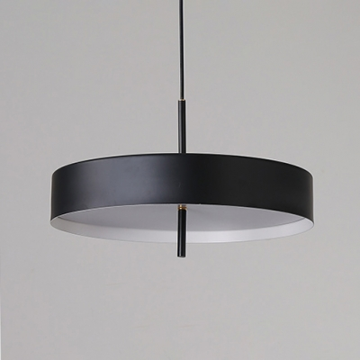 Round LED Ceiling Light Concise Length Adjustable Hanging Light for Dining Room