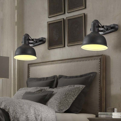 11'' Height Single Light Industrial LED Wall Sconce in Mottled Black Finish