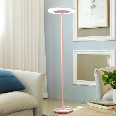 Acrylic Disc LED Floor Lamp Macaron Contemporary Floor Light for Living Room Children Room