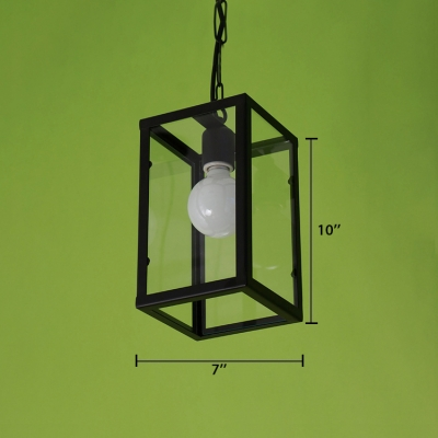 Matte Black 1 Light LED Pendant with Empire Clear Glass Shade