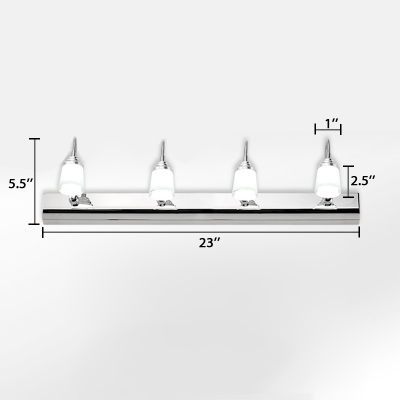 Modernism Cup Shade Wall Lamp Rotatable Stainless 2/3/4 Heads Cosmetic Lamp in Warm/White