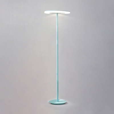 Post Modern Disc Floor Light Sitting Room Bedroom Acrylic LED Standing Light in Blue/Green/Yellow