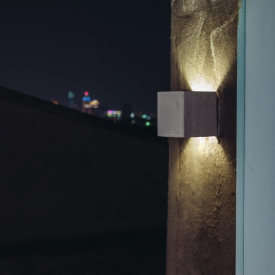 Square LED Wall Light Designers Style Energy Efficient Cement Wall Sconce for Balcony
