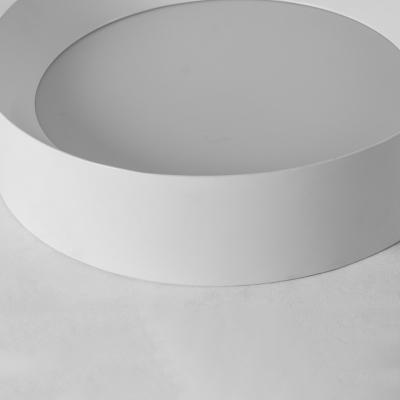 Acrylic Ring Ceiling Light Modern Fashion Single Head Flush Mount Lamp Fixture in White