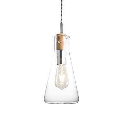 Clear Glass Shaded Chemistry Laboratory Ware Designed  Pendant