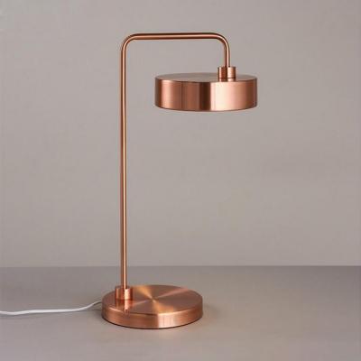 Gold/Rose Gold Round Desk Lamp Modern Steel Decorative Table Light for Office Bedside