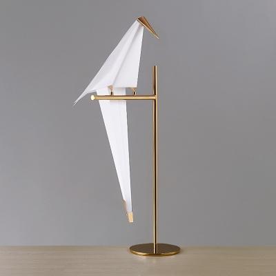Single Bird Floor Light Natural Modern Metal Decorative Standing Light for Office Studio