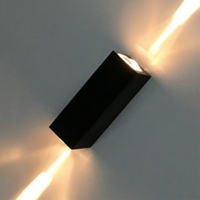 2 Lights Rectangle Spotlight Minimalist Acrylic LED Sconce Light in Warm/White for Exhibition Hall