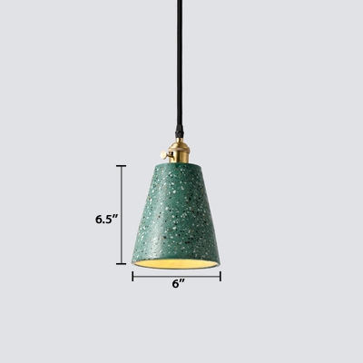 Artistic Modern Cone Suspended Light Concreted LED Drop Light with Adjustable Length