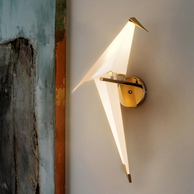Bird Shape Wall Sconce Stylish Modern Plastic Small Wall Light for