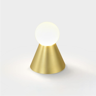 Cone Wall Light Post Modern Metal Single Light Wall Light Sconce in Brass for Coffee Shop