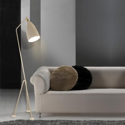 Conical LED Floor Lamp Designers Style Modern Metal Floor Light in White for Living Room
