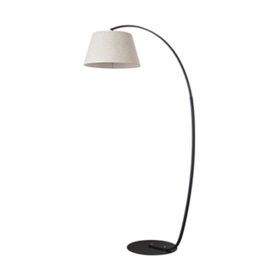 Fabric Arched Floor Light Modern Simple Floor Lamp In White For Living Room  Office ...