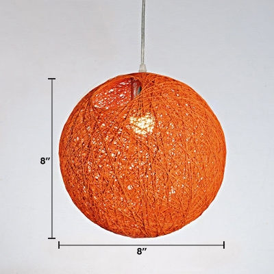 Hand Made Ball Pendant Lamp Colorful Contemporary LED Pendant Lamp for Coffee Shop