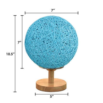 Orb Shade Table Light Concise Colorful Hand Made Night Lamp for Children Room Corridor